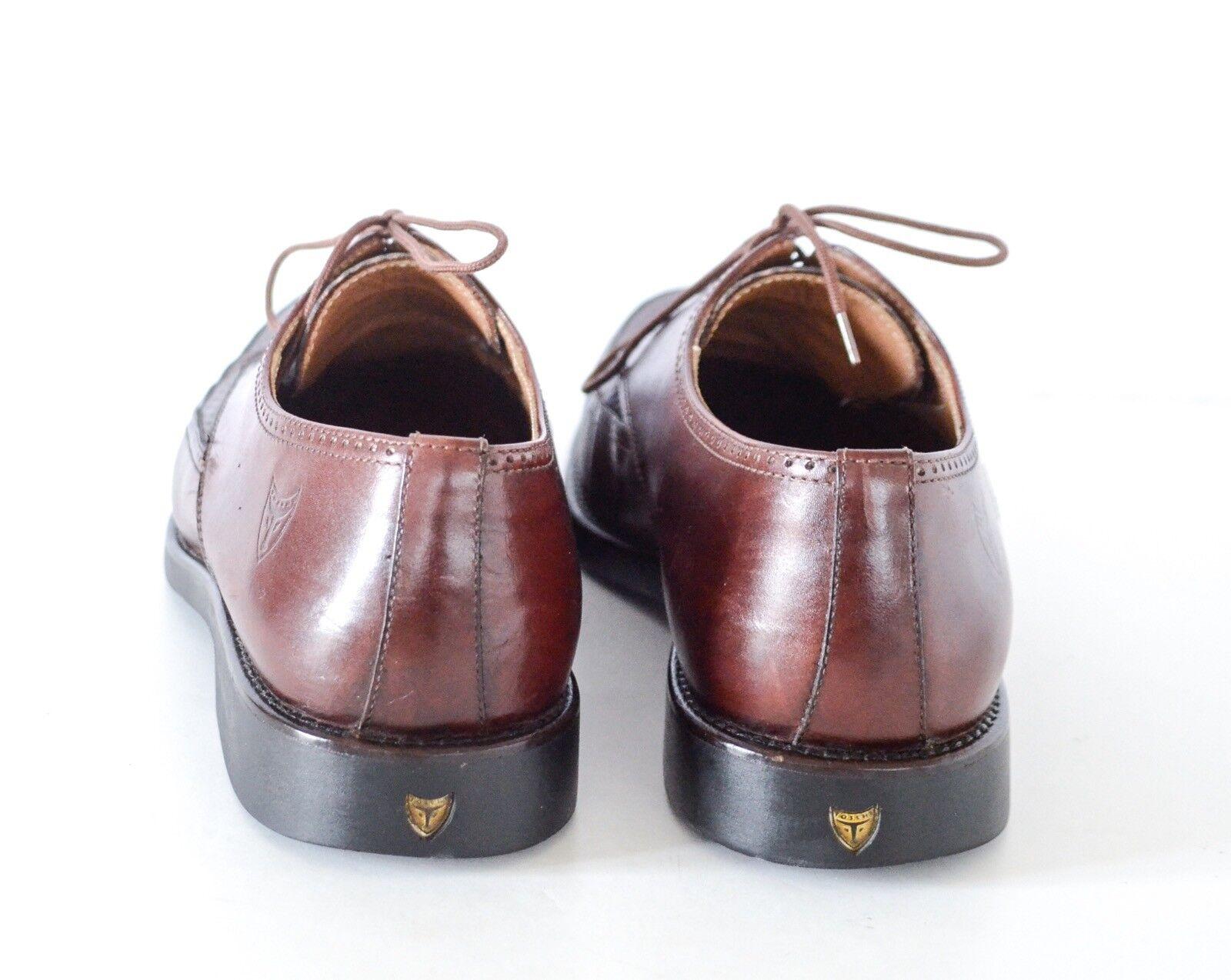 Toschi uomo's Brown Textured Leather Oxfords 9.5M Made in Italy Scarpe classiche da uomo