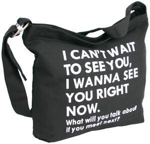 Damen-Schultertasche-grosse-Umhaengetasche-aus-Canvas-schwarz-Crossover-Bag