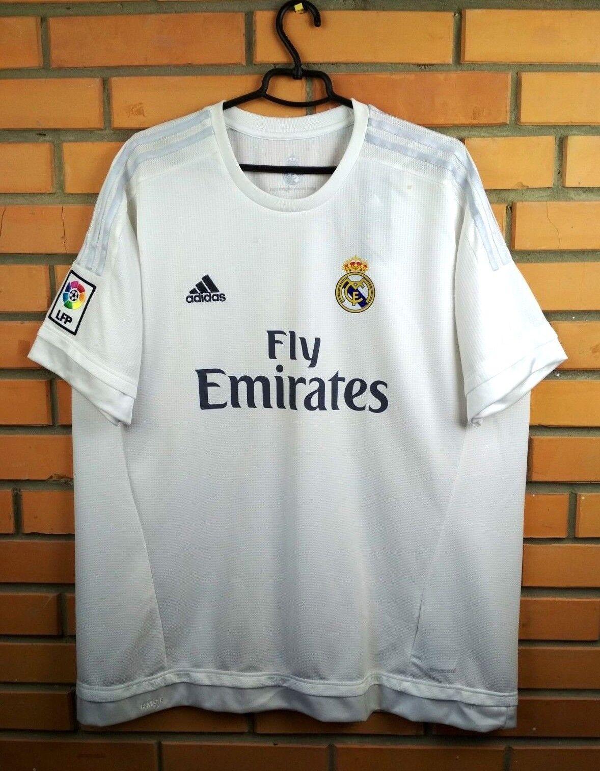 Real Madrid jersey 2XL 2015 2016 home shirt S12652 soccer football Adidas