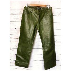 Størrelse Jeans Læderbukser Earl 30 Green pHtnq