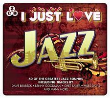 3 CD BOX I JUST LOVE JAZZ BRUBECK GOODMAN BAKER DAVIS BILK BALL PARKER BLAKEY