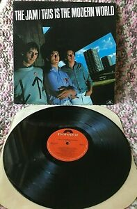 THE JAM VINYL this is the modern world LP 1st US PRESS 1977 Paul Weller PUNK