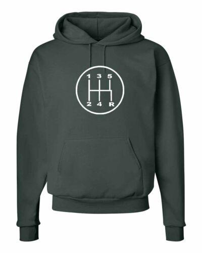 STICK SHIFT SPORTS CAR GEARS RACING Logo Hooded Sweatshirts S-5XL