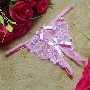 3017109bac6c Women Sexy Butterfly Lace Underwear C-string Panties Thong G-string ...