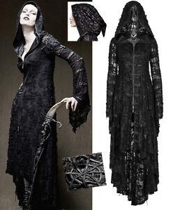 Manteau Long Robe Gothique Punk Lolita Baroque Destroy Capuche Elfique Punkrave Ebay