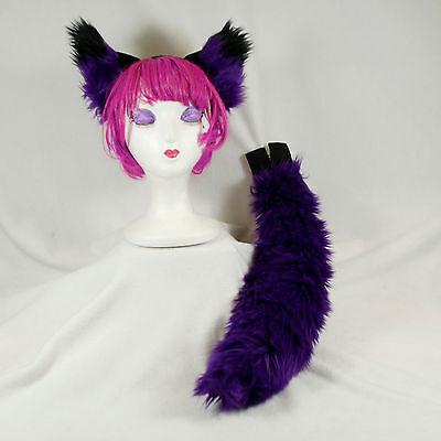 PAWSTAR Wolf Ears & Tail Set - Costume Furry Plush Headband Halloween [PU]4005