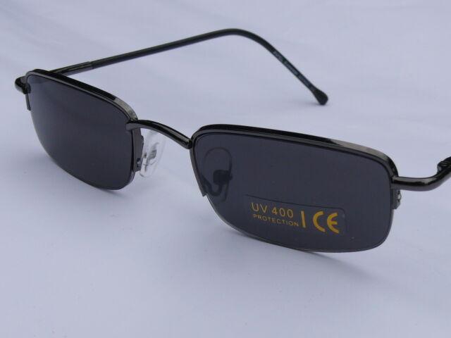 Sonnenbrille Herrenbrille sehr schmale Gläser  anthrazit   P1051
