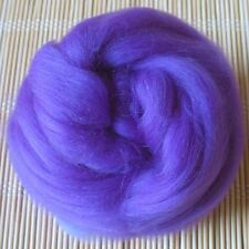100g Merino Wool Tops 64's Dyed Fibres - Purple - Felt Making and Spinning