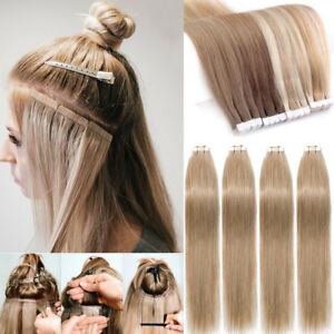 Russian 7a Straight Remy Tape In 100 Real Human Hair Extensions