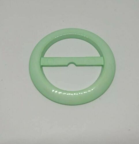 Pastel mint green belt buckle vintage 50s 60s retro sewing