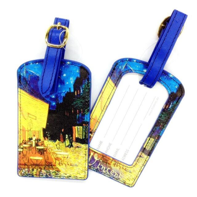 """Luggage Tag -""""Cafe Terrace at Night""""  by Van Gogh - Easy to spot your bag!"""