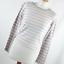Cherokee-Womens-Size-12-White-Striped-Cotton-Basic-Tee thumbnail 1