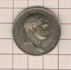 Ficha Plata Napoleón Bonaparte 1er Consul Tabla de Las Notarios