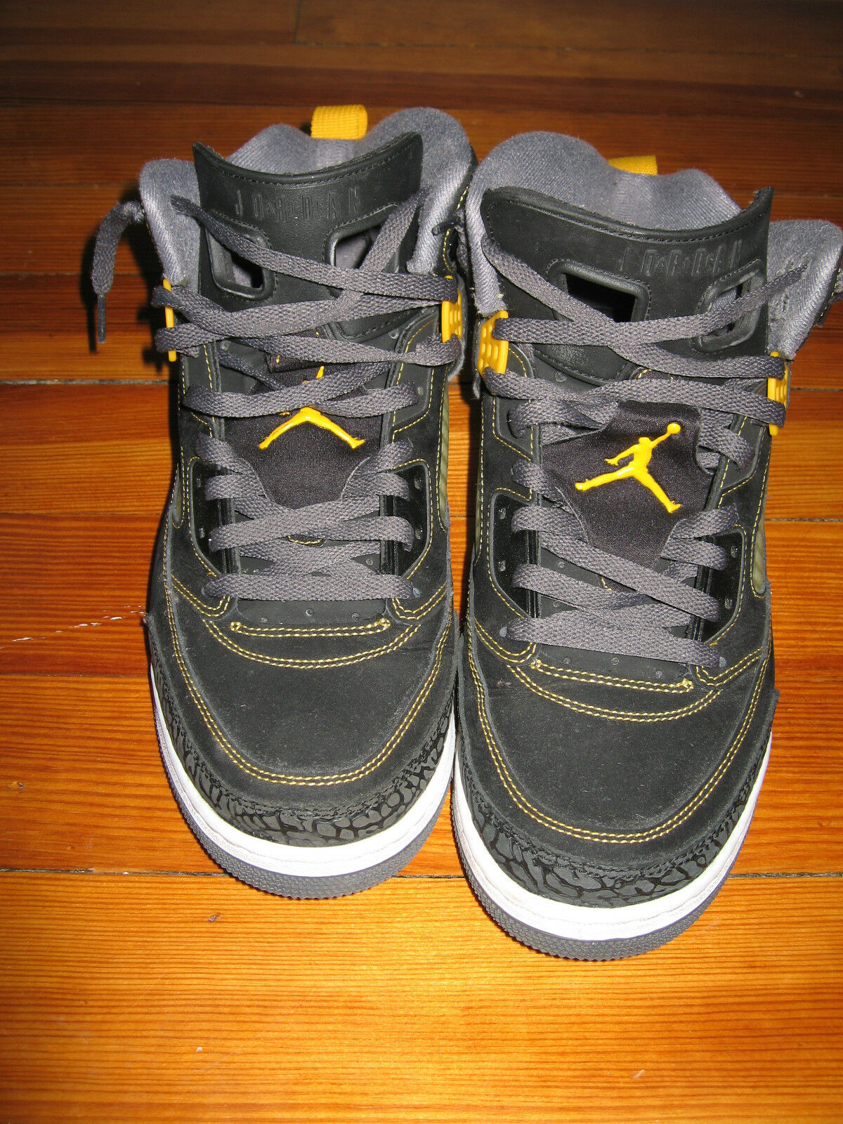 Pre-owned Air Jordan Spizikes Black Yellow Basketball Shoes Comfortable Seasonal clearance sale