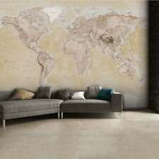 315 x 232cm Wall mural photo wallpaper Brown World Map | glue not included
