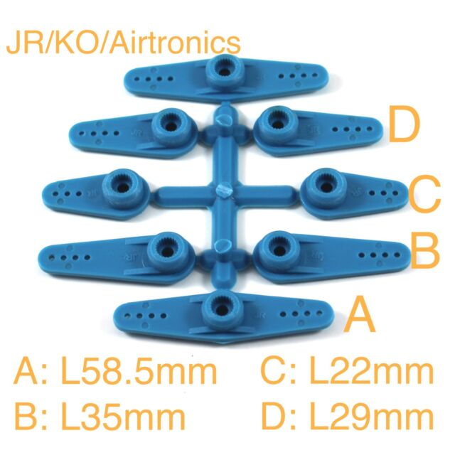 Apex RC Products 23T JR Blue Aluminum Dual Clamping Servo Horn 2 Pack #8004