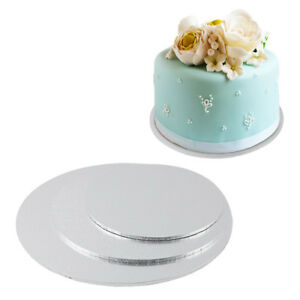 Round-Cake-Boards-Baking-Wedding-Birthday-Decor-Stands-Card-Thick-Drum-Foil-Base