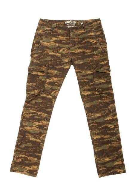 ECKO UNLTD. Cargo Pants Waist sz 34 x 31 Mens Slim Tiger Camo Camouflage NEW NWT