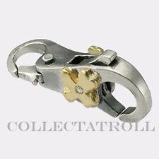 Authentic Trollbeads Sterling Silver & 18K Gold Flower Lock  Trollbead  40102