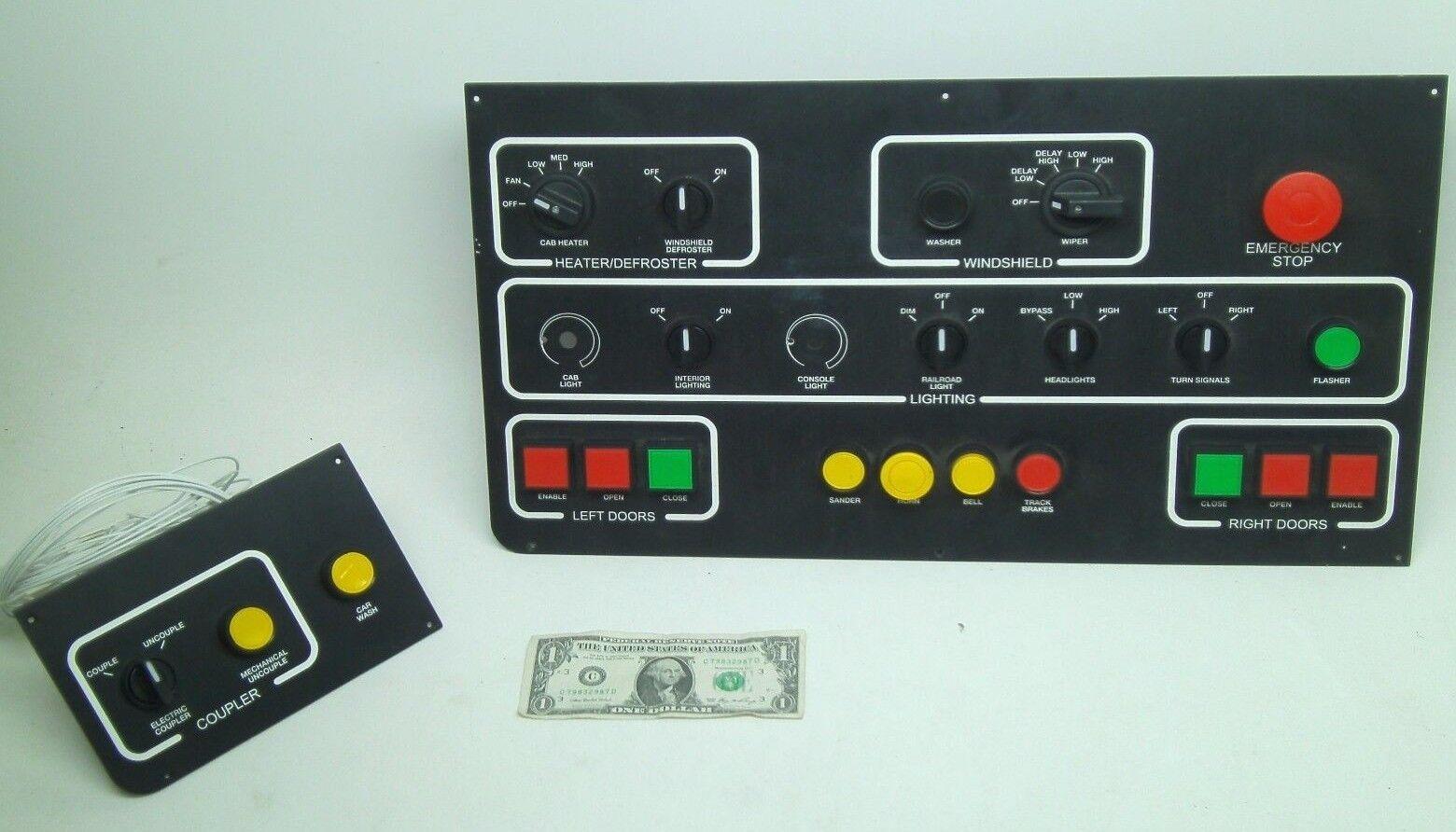 nuevo tablero de control de conductores carro de tren Puerta Parabrisas Luces acoplador de parada
