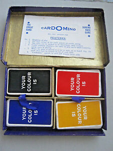 CHAD VALLEY CARDOMINO FLUTTER GAMES RARE 1920 CARD GAME 112
