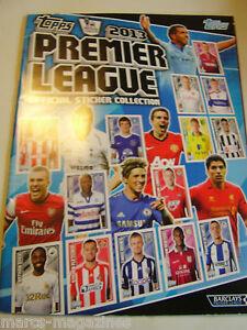 Topps-Premier-League-2013-album-de-Pegatinas-vacio-Perfecto-Estado