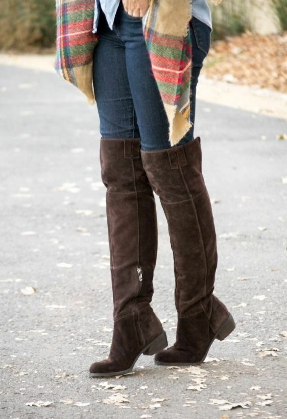 SAM EDELMAN JOHANNA OVER THE RIDING KNEE DARK BROWN SUEDE RIDING THE BOOTS 7.0 Free ship be7fdc