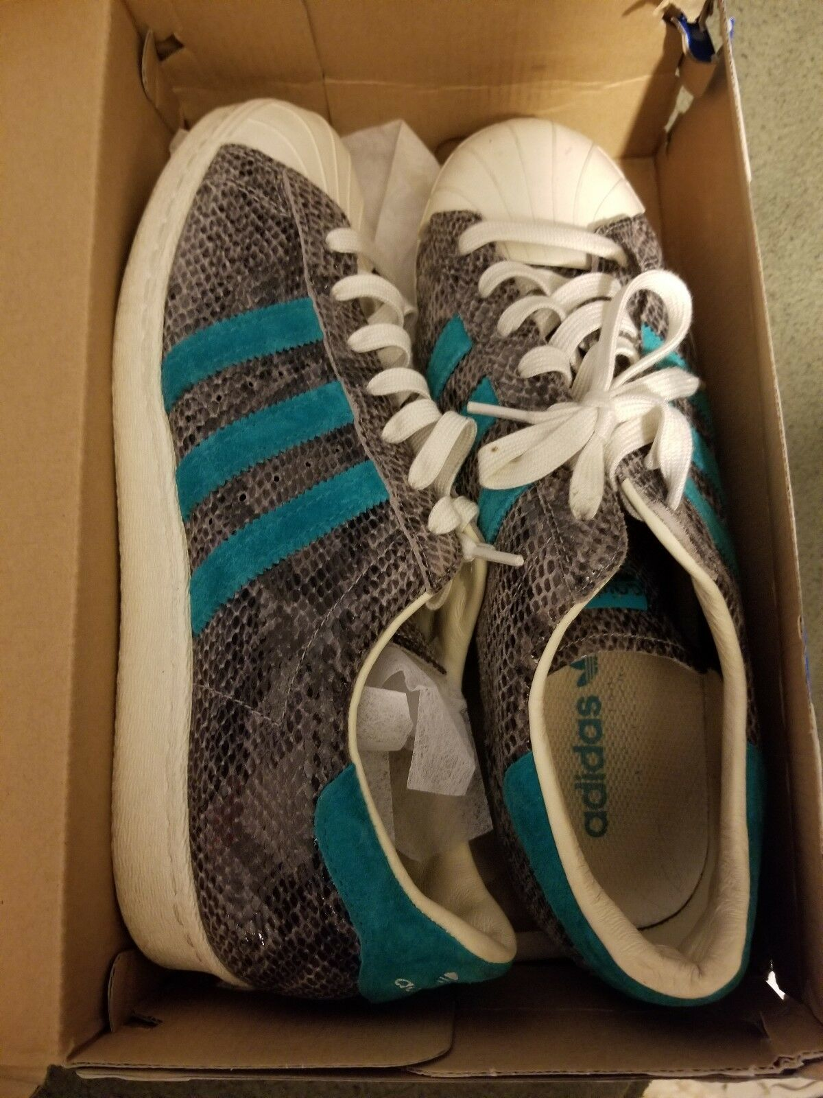 Adidas Superstar 80s Snake Turquoise