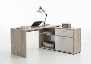 Home Office Furniture Computer Desk Study Storage Sand Oak ...