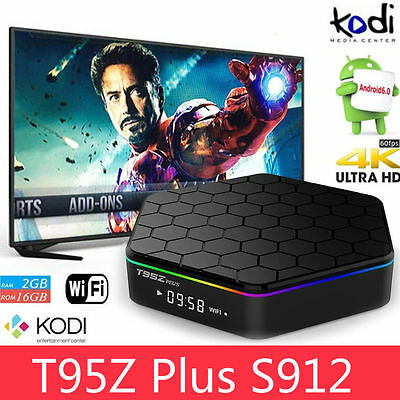 Superview T95Z Plus S912 2GB 16GB 7.1 Octa Core Android TV Box 5Ghz WIFI UHD 4K