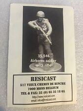 Resicast 1/35th WW2 British 1st Airborne Division Soldier Rifle Resin Figurine