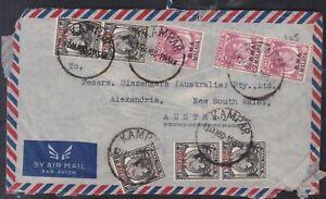 1950 KAMPAR BMA Malaya 35c Airmail Postal Cover to SLAZENGER (AUSTRALIA) PTY LTD
