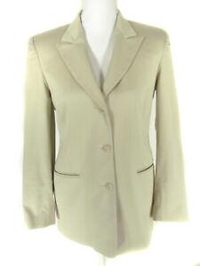 Austin Reed Women S Jacket Blazer Size 4 Beige 3 Buttons Ebay
