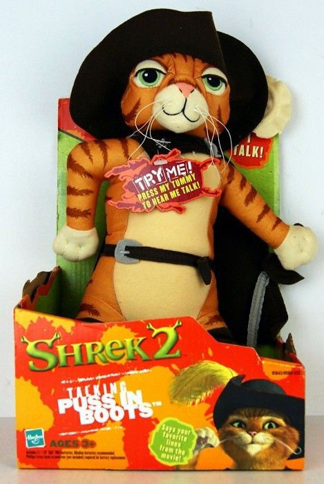 Talking Puss in Boots Shrek 2 Plush Soft Toy Working 12