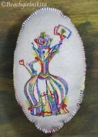 Embroidered Alice Wonderland Pin Cushion Or Bjd Doll Accessory 4 Pillow Stuffie