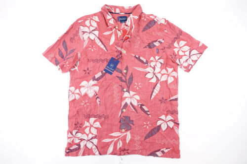 JACK ONEILL COLLECTION MIRAMAR TROPICAL LARGE SHORT SLEEVE BUTTON FRONT SHIRT