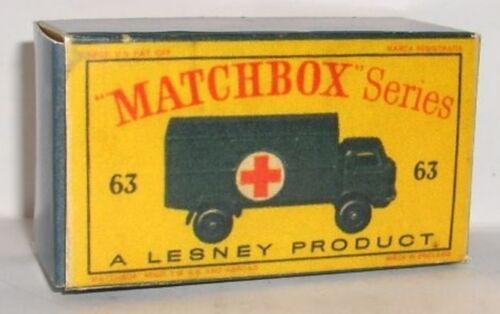 Repro box Matchbox 1:75 nº 63 ford Service Ambulance nuevos