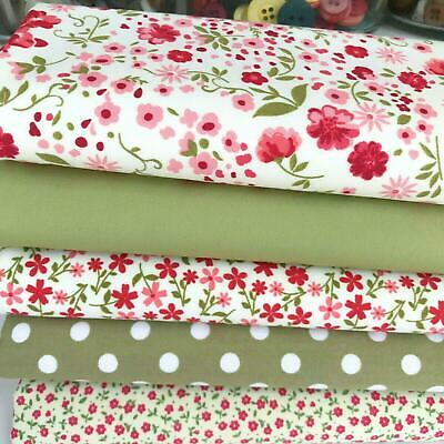 Moda fabric  Into the Woods Flowers 100/% cotton pink Quilting Sewing Fabric,