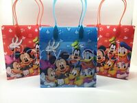 24 Pcs Disney Mickey Mouse Club House Goodie Bags Party Favor Bags Gift Bags