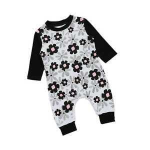 Infant-Baby-Kids-Girls-Bodysuit-Long-Sleeve-Romper-Jumpsuit-Outfits-Clothes