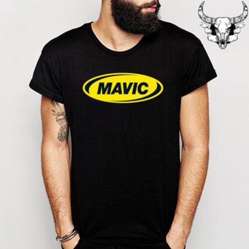 MAVIC Bike Sport Racing Logo Men/'s Black T-Shirt Size S to 3XL