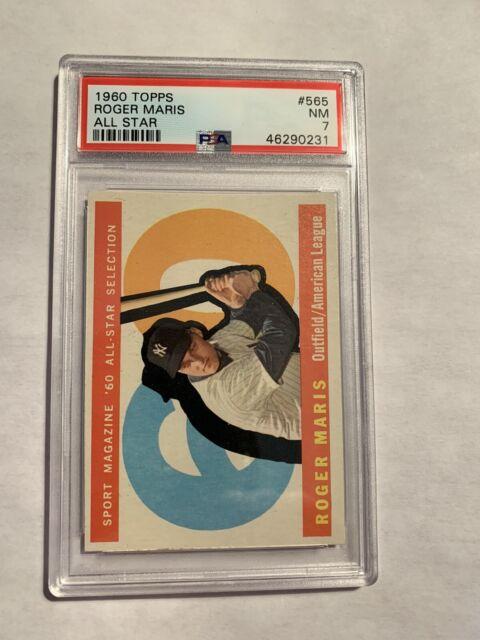 1960 Topps #565 Roger Maris New York Yankees All Star PSA 7 NM