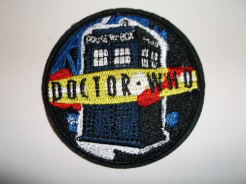 Doctor Dr WHO Phone Box British TV Series~PATCH~Iron Sew Hat Shirt~3 1//16 ROUND