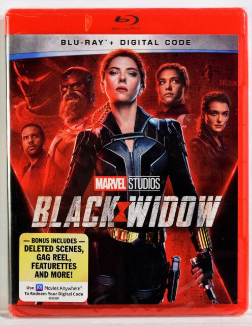 MARVEL STUDIOS - BLACK WIDOW (Blu-ray + Digital Code, 2021) NEW SEALED NO SLIP