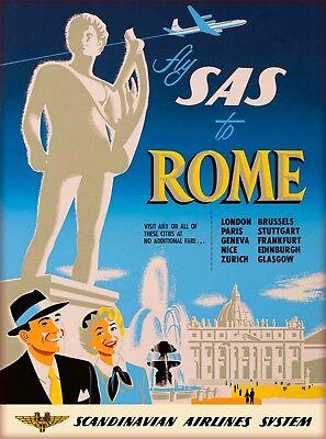 Pompei Italy Vintage Art Travel Advertisement Poster Picture Print