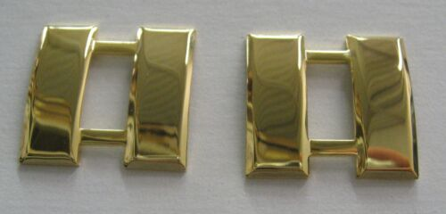 Captain Bars Larger Insignia pin,Gold Plated Pair