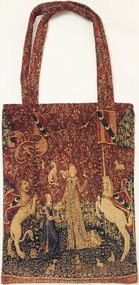 MONET POPPY FIELD TAPESTRY SHOPPING TOTE BAG BY ROLANDE DU DREUILH 32CM X 40CM