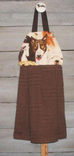 Bull Terrier Face AKC Hanging Kitchen Oven Fridge Cabinet Hand Dishtowel