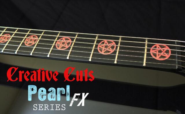 Pentagram Fret Marker FretBoard Inlay Decals Stickers for Electric guitar Dean