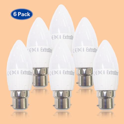 4//5//6//7W B22 BC LED CANDLE BULBS WARM DAYLIGHT WHITE C37 LIGHT BULBS A+RATING